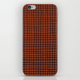 Navy and Rust (XV) Thread Pattern iPhone Skin