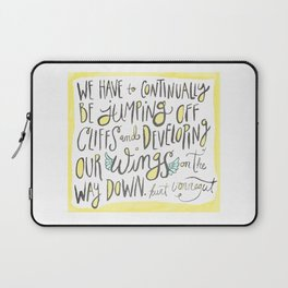 jumping off cliffs - kurt vonnegut quote Laptop Sleeve