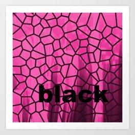 Black and Pink Art Print