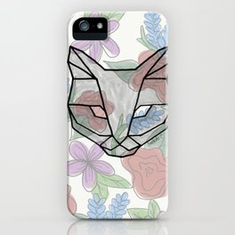 Geo Cat iPhone Case