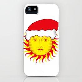 Sun: Merry Christmas iPhone Case