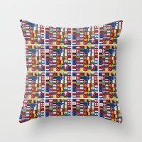 europe Throw Pillows featuring Europe/Europa by MehrFarbeimLeben