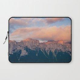 Pink Sunset over Mount Amazing Laptop Sleeve