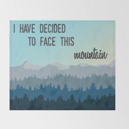 Face This Mountain (Jon Foreman Lyrics Illustration) Throw Blanket