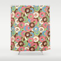 donuts Shower Curtains featuring Donuts by Beesants