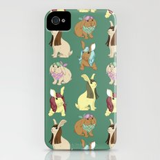 Hares In Wigs iPhone (4, 4s) Slim Case