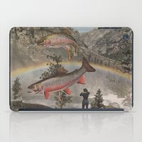 trout iPad Cases featuring Rainbow Trout by Mitch Meseke