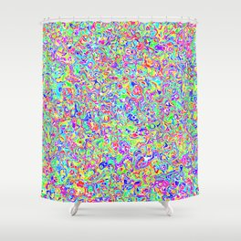 Rainbow Sqiuggles Shower Curtain