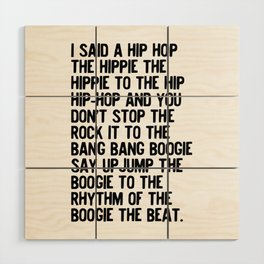 RAPPERS DELIGHT Hip Hop CLASSIC MUSIC Wood Wall Art