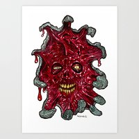 Heads of the Living Dead  Zombies: Emergence Zombie Art Print