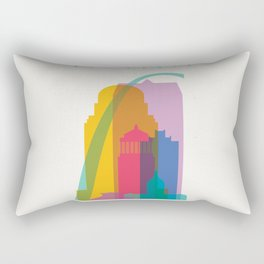 Shapes of St. Louis. Accurate to scale Rectangular Pillow