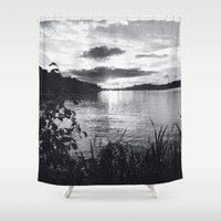 stockholm Shower Curtains featuring Stockholm 02 by Viviana Gonzalez