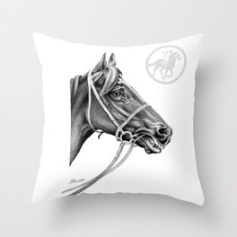 Veloso Racehorse NZ Throw Pillow