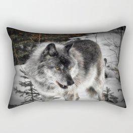 Hungry Wolf Rectangular Pillow