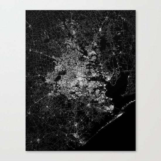 Houston map Canvas Print