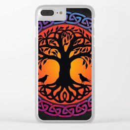 Viking Yggdrasil World Tree Clear iPhone Case