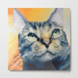 Cat.jpeg Pixel Cat Metal Print