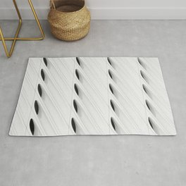 The Broad In the Afternoon Black & White Pattern Photography II Rug