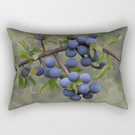 Blackthorns, watercolors Rectangular Pillow