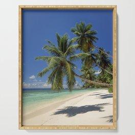 Palm beach, the Seychelles, La Digue island, Serving Tray