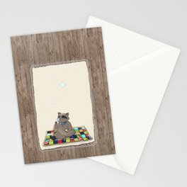 Raccoon Bubbles Stationery Cards