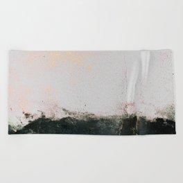 abstract smoke wall painting Beach Towel