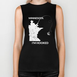 MN Minnesota Fishing T Shirt Gift for Fishermen and Anglers Biker Tank