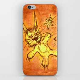 Record Cover for some Jazzed Rabbits, Orangish. iPhone Skin