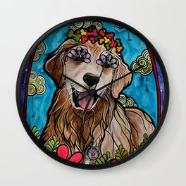 Golden Retriever Service Dog (Ryver) Wall Clock