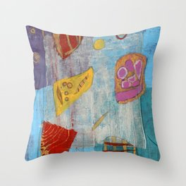 Colours and Shapes (Abstract) Throw Pillow