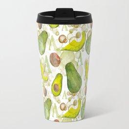 Watercolour Avocados Travel Mug