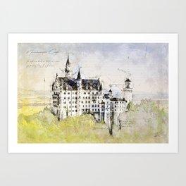 Neuschwanstein Castle, Bavaria Germany Art Print