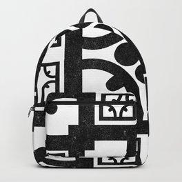 English half-timbered Tudor house pattern Backpack