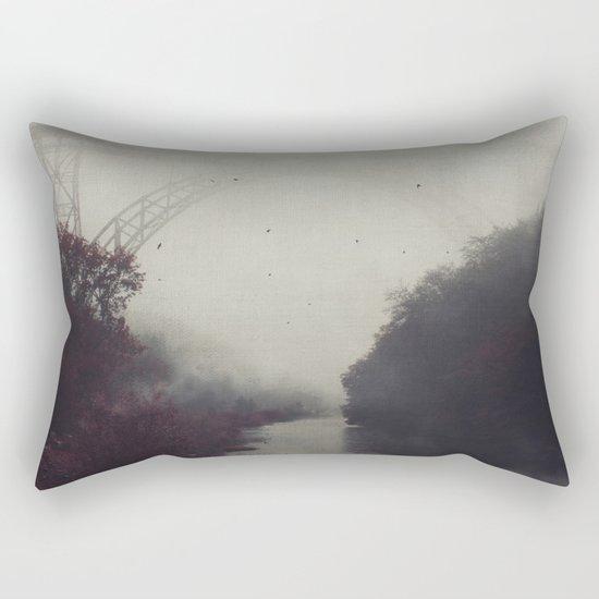 Bridge and River in Fog Rectangular Pillow