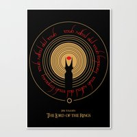 the lord of the rings Canvas Prints featuring Lord Of The Rings by outofreception