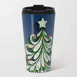 Christmas tree with colorful lights Travel Mug