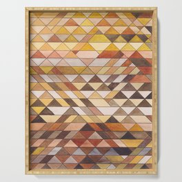 Triangle Pattern Fall Colors Serving Tray
