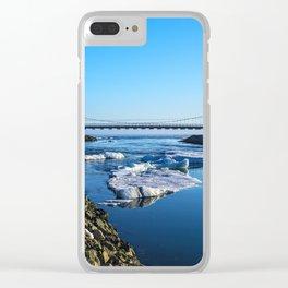 Bridge across the Ice Lagoon Iceland Clear iPhone Case