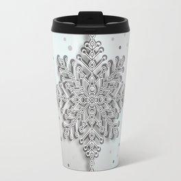 snow crystal Papercut Travel Mug