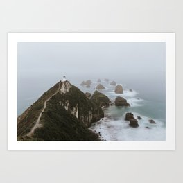 Misty Nugget Point Art Print