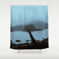 scott pilgrim Shower Curtains featuring Cape Scott by Kevin Russ