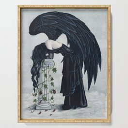 Despair Gothic Angel Serving Tray