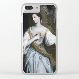 Anne Dashwood, Countess of Galloway by Joshua Reynolds Clear iPhone Case