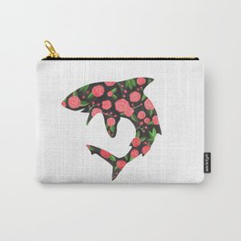Floral Shark Carry-All Pouch