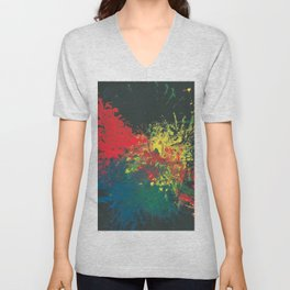 Impulsive Color Splash Toddler Art Unisex V-Neck
