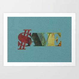 Save Money Art Print