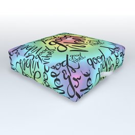 Good Vibes - Rainbow Pride Outdoor Floor Cushion