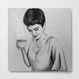 Coffee with Hope - Square Metal Print