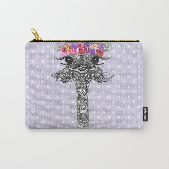 OSTRICH - FLOWER GIRL II Carry-All Pouch