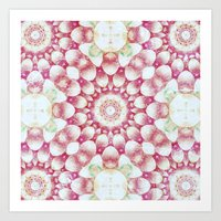 pomegranate Art Prints featuring Pomegranate by Truly Juel